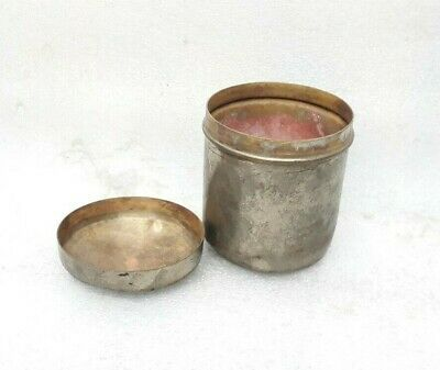 Antique Old Brass Made Opium Snuff Tobacco Box Collectable MP