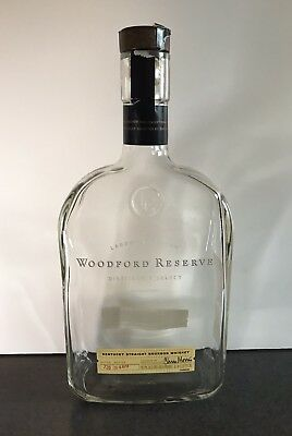 Individual Empty WOODFORD RESERVE 1 Liter Kentucky Straight Bourbon Whiskey