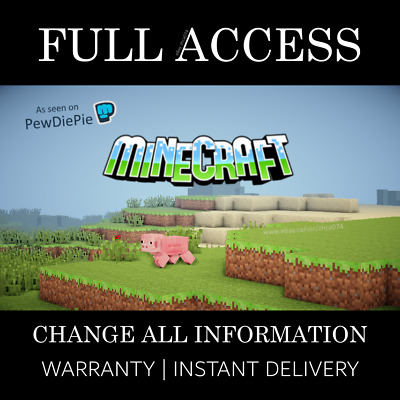 Minecraft Java Edition | 10 MINUTE DELIVERY | FULL ACCESS | Premium Account
