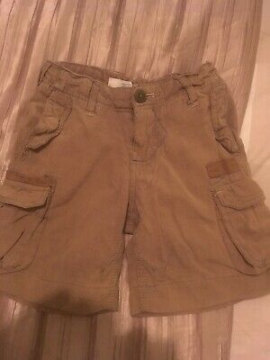 Boys Beige Check Firetrap Long Shorts Age 4 Years