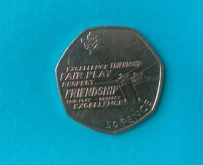 2011 London Olympic Rowing 2012 50p Fifty Pence Coin Rare Collectible Circulated