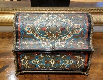 French late 19th Century Baroque-style Letter Box manner of A. C. Boulle