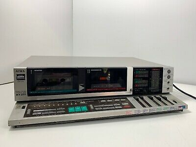 AIWA AD-WX220 Double Cassette Tape Deck Made in Japan Works