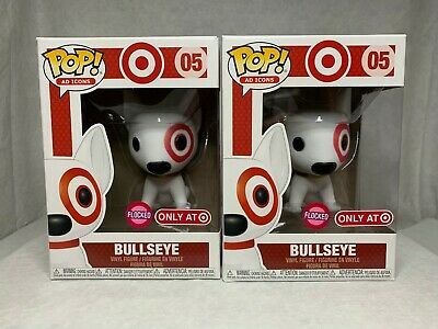 FUNKO POP! Flocked Bullseye Target Exclusive Ad Icons #05 2019 w/ POP! Protector