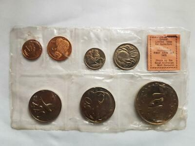 Uncirculated First Coin Set of 7 coins of the cook Island 1972 Limited Issue