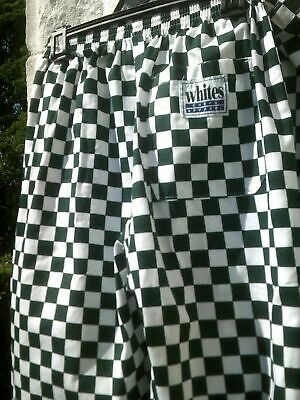 Whites Chef's Pants Check Chef Trousers Size M 100% Cotton Chefs Apparel