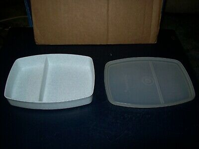 Vintage Tupperware Packette Divided Small Container 813-8 With Lid 814-4