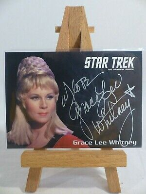 Star Trek TOS 2016 50th silver autograph card Grace Lee Whitney as Yeoman Rand