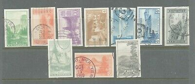 A43 - Scott #756-765 Farley Imperf National Parks Issue, Used Set
