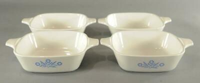 4 Vintage Corning Ware Blue Cornflower Petite Pan Casserole P-41 Single Serve