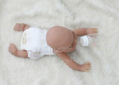 "Wheat colour 16"" 2kg/4.5lb Full Body Solid Soft Silicone Reborn Baby GIRL Doll"