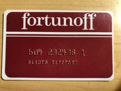 Fortunoff Department Store Vintage Collectors Credit Card-FREE Shipping