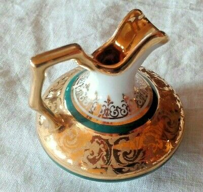 Exquisite Vintage French Limoges Miniature Vase / Urn / Creamer  Heavily Gilded