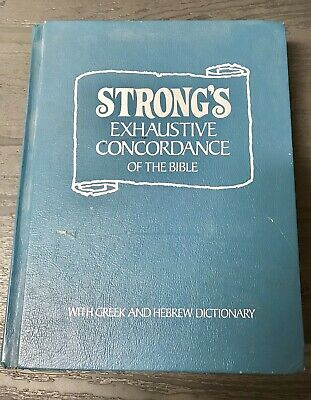 STRONG'S EXHAUSTIVE CONCORDANCE of the Bible 1973 Hebrew