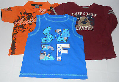 3 Infant Baby Boy's Tops Shirts Size 24 Mos Okie Dokie Jumping Beans Quad Seven