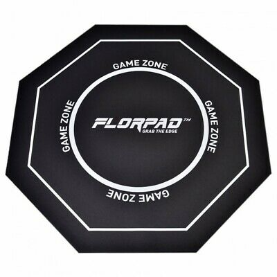 FlorPad Game Zone Gamer-/eSports Protective Floor Mat - Black Soft Core