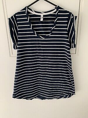 C&M Camilla And Marc Navy Striped Tshirt Size 6