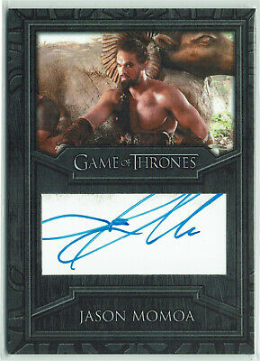 Game of Thrones Inflexions Archive Cut Autograph Card Jason Momoa as Khal Drogo