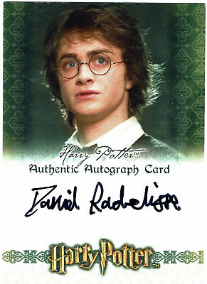 World of Harry Potter 3D Series 1 Autograph Card Daniel Radcliffe as Harry