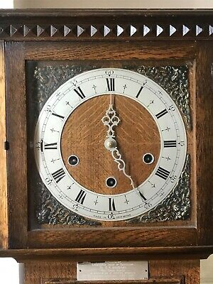 Antique Georgian Wooden c.1929 Grandmother Clock with working chime