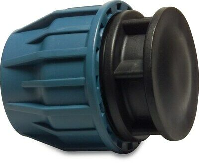 MDPE Plastic Compression End Cap PE100 MDPE Water Pipe WRAS Approved