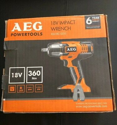 """New AEG Impact Wrench 18V BSS18C12Z-0  Body Only 1/2"""" Square Drive New"""
