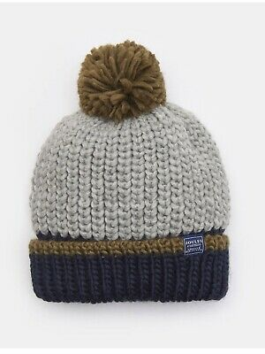 JOULES AW19 Junior CHUNKY Knit BOBBLE HAT NEW & SEALED !!