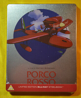 Porco Rosso Steelbook Bluray UK Edition Studio Ghibli New & Sealed