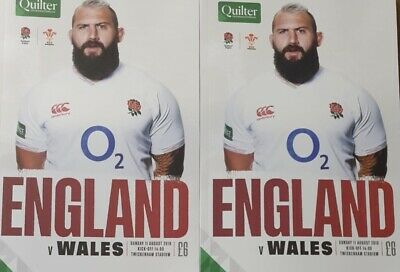 2019 ENGLAND v WALES Rugby Union Programme 11/08/2019