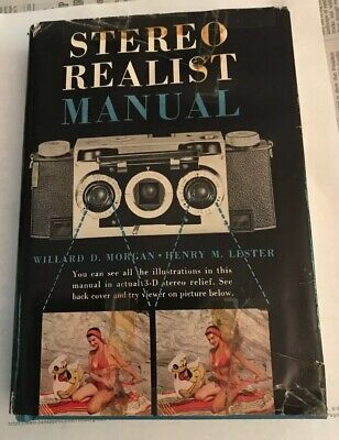 Vintage 3D Stereo Realist Book Manual With Viewer 1954 First Edition