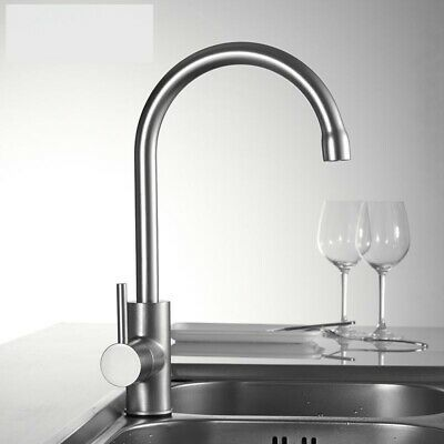 Kitchen Faucet 360 Degree Rotation Curved Outlet Pipe Basin Plumbing Hardware