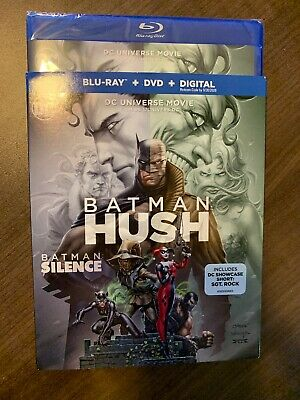 Batman HUSH Blu-Ray & DVD w Slipcover Canada Bilingual NO DC LOOK