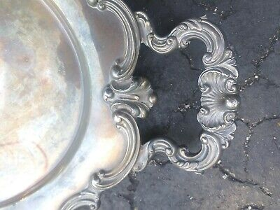 "REED AND BARTON VINTAGE  SILVERPlate 23"" by 14"" SERVING TRAY Regent pattern"