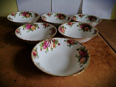 6 Royal Albert Old Country Roses Cereal Bowls ( 6 1/4 inch ) 1st Quality