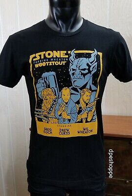 STONE BREWING Co. WOOTSTOUT Collaboration Stone Farking Wheaton Beer T-Shirt SM