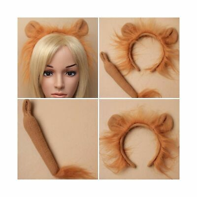 Lion Headband Tail Headband Fancy Dress Hair Accessorie World Book Day Ha... NEW