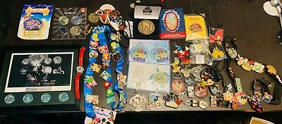 Lot of Disney Trading Pins Coins Keychains & More - Collector's Items Disneyland