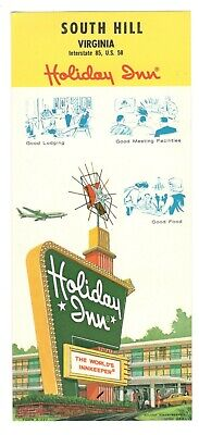 Holiday Inn South Hill Virginia Vintage Travel Brochure MX2