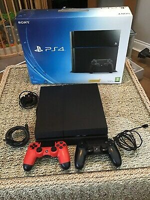 Sony PlayStation 4 500GB Jet Black Console, 2 Controllers