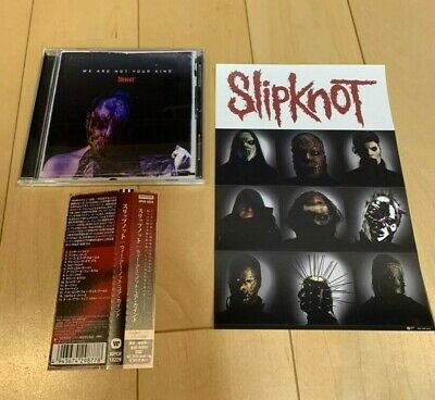"SLIPKNOT ""WE ARE NOT YOUR KIND"" JAPAN CD +1 Bonus Track *PLUS STICKER*"