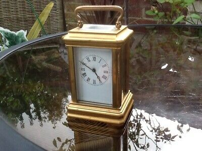 Miniature Brass Carriage Clock - Working - Free Postage!
