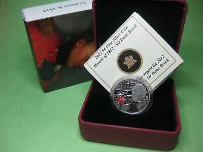 2012 $4 Fine Silver Coin - Heroes of 1812 - Sir Isaac Brock