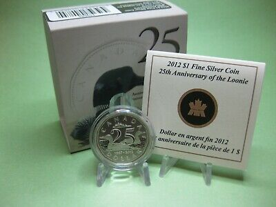 2012 $1 Fine Silver Coin - 25th Anniversary of the Loonie