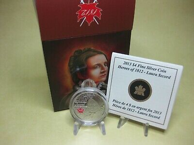 2013 $4 Fine Silver Coin - Heroes of 1812 - Laura Secord