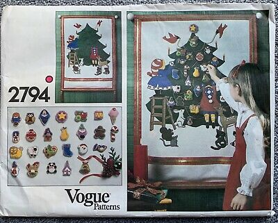 Vintage Vogue Advent Calendar Pattern #2794 Uncut