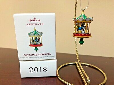 2018 Hallmark Miniature Ornament Christmas Carousel  #2