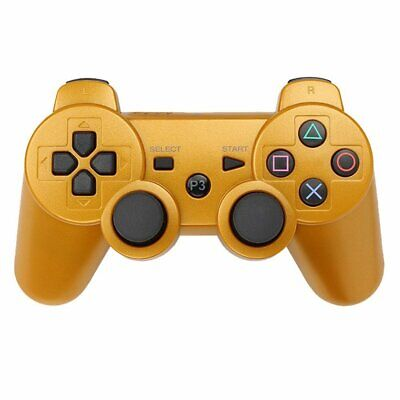 PS3 Bluetooth Wireless Gamepad Controllers for Playstation 3 Gold USA SELLER