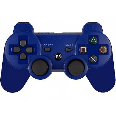 PS3 Wireless Bluetooth Controllers Gamepad for Playstation 3 Blue USA SELLER