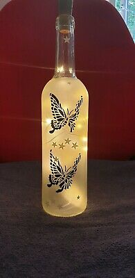 Personalised wine bottle light custom gifts butterfly free shipping