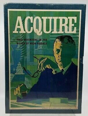 Vintage 1962 3M Bookshelf Acquire High Finance Board Game Aquire Brand new
